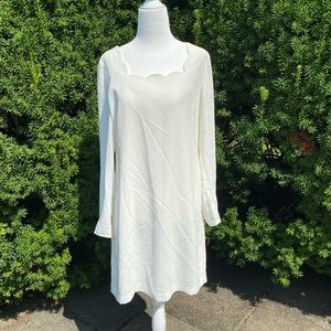 CECE By Cynthia Steffe**White Scalloped Dress*US 6